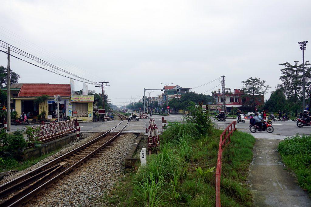Foto di una strada a Hue, Vietnam.